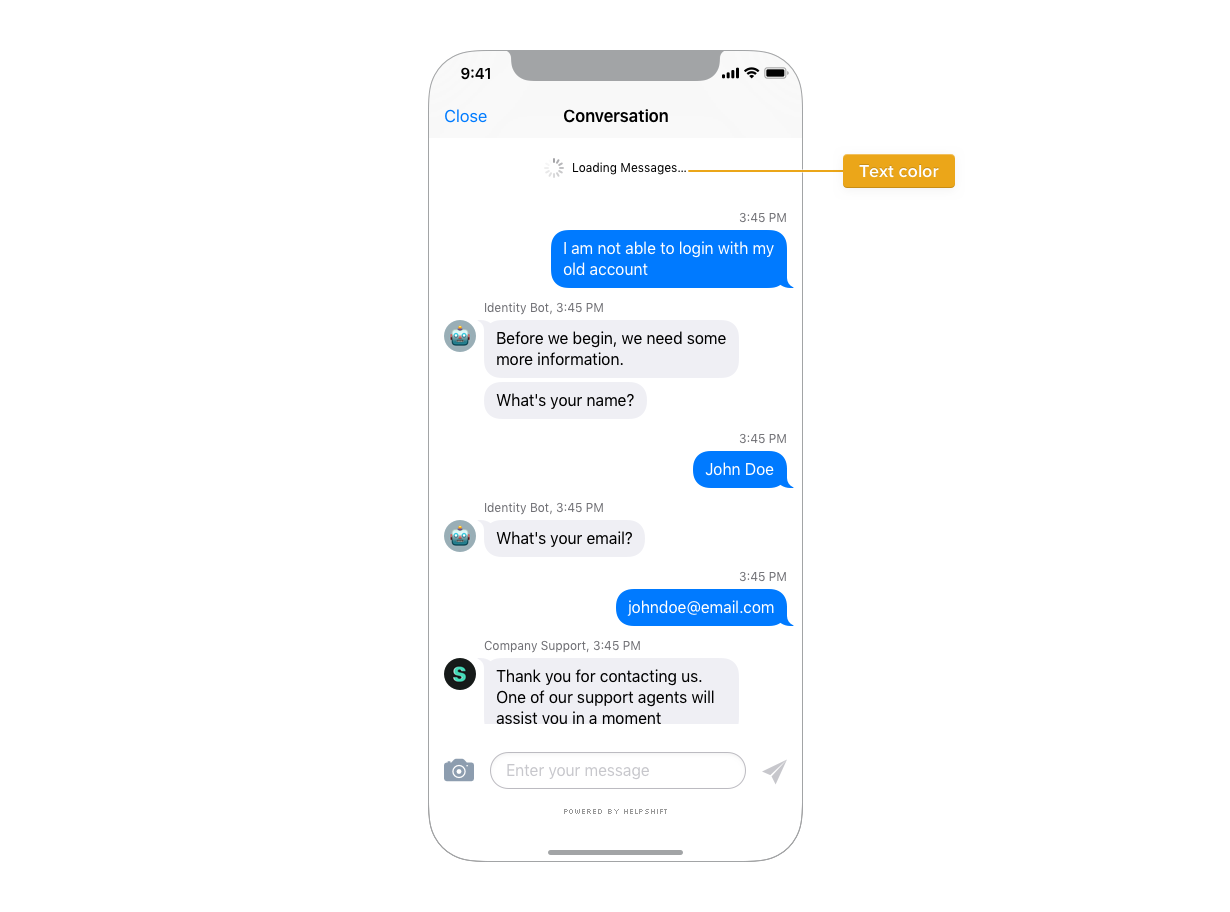 Design - iOS - Helpshift for Xamarin